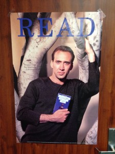 Nic Cage wants you to read, guys.